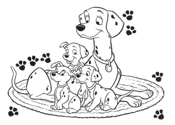 101 dalmatians perdita colouring pages (page 2) For