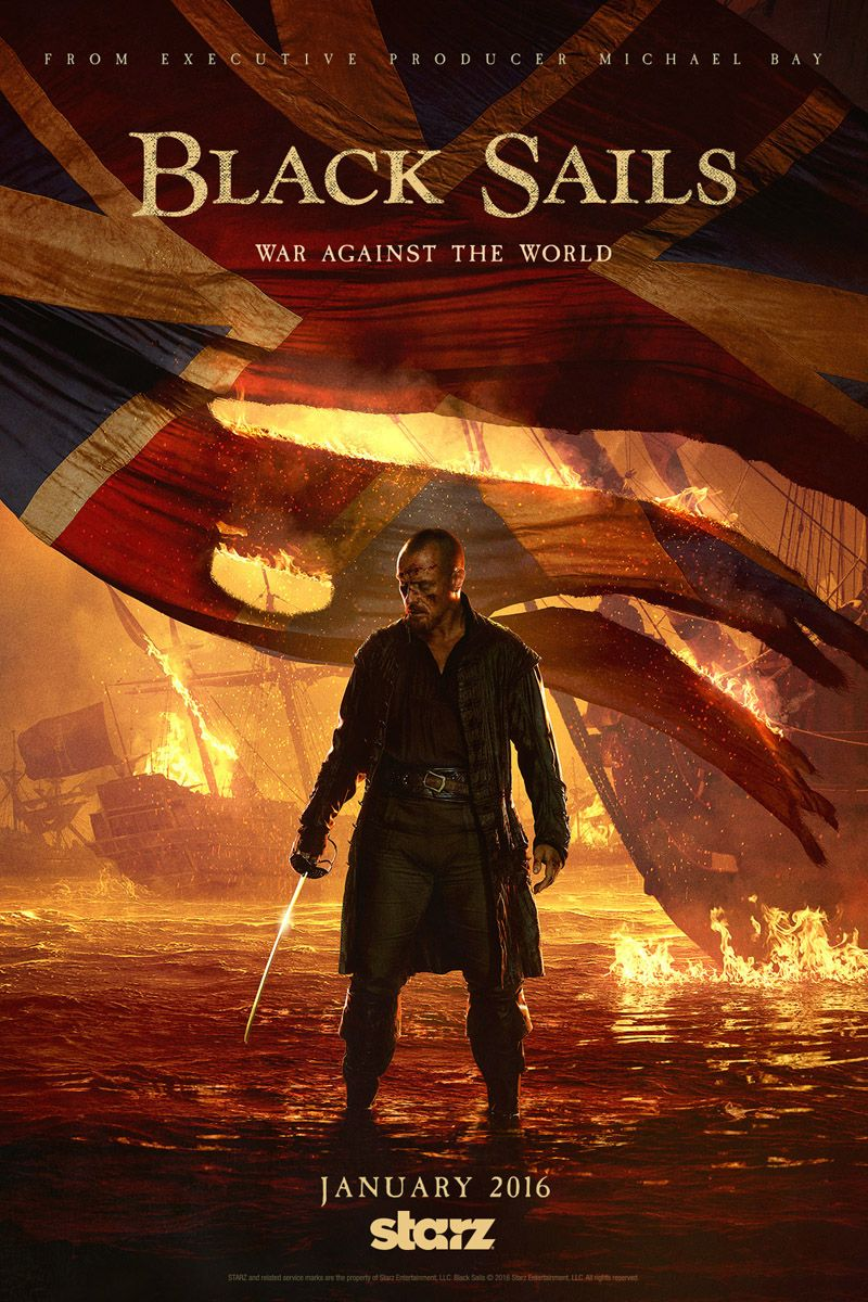 Black sails s3 pirate captain flint leather coat - Watch An Exclusive Black Sails Clip From Episode 5 Of Season 3 Featuring John Silver