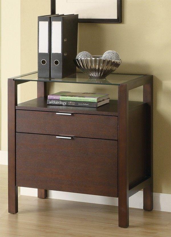 Rampart Glass Top File Cabinet Merlot Furniture File Cabinet Furniture Office Furniture File Cabinets