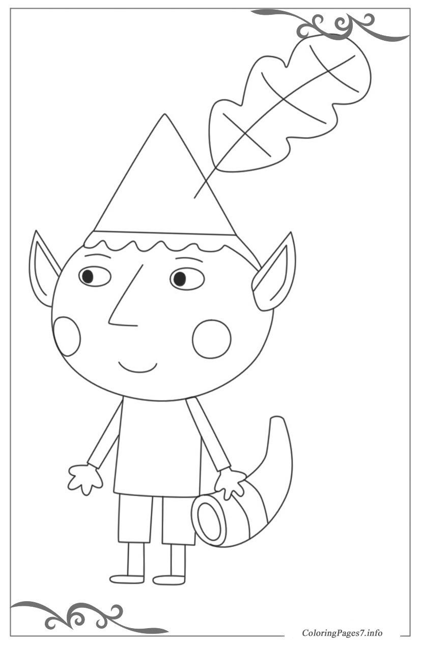 ben  holly's little kingdom free coloring page template
