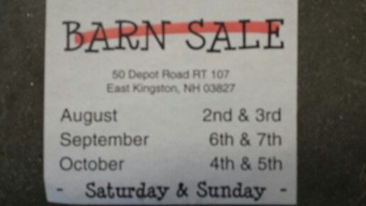 Having a BARN SALE this weekend