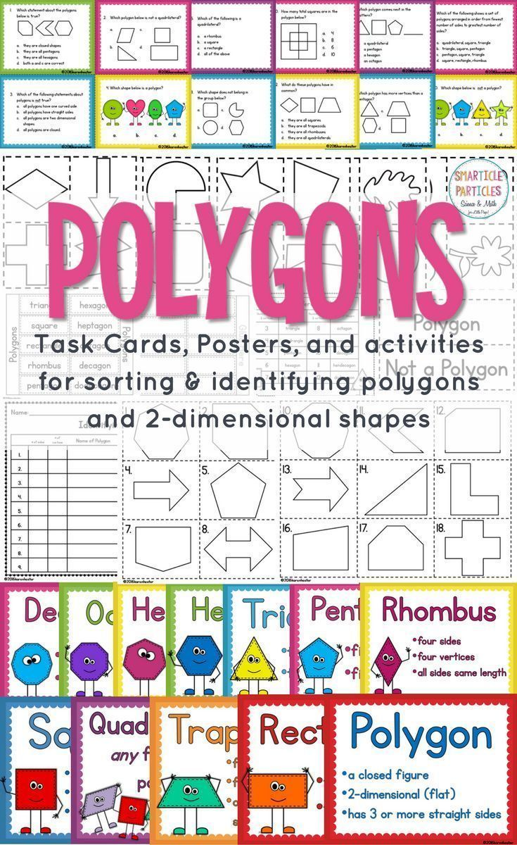 Activities for teaching and learning about classifying polygons based on  their attributes…   Elementary special education activities [ 1200 x 735 Pixel ]