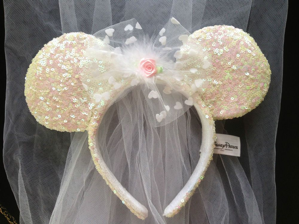 Be A Disney Bride Minnie Mouse Headband With Flowing