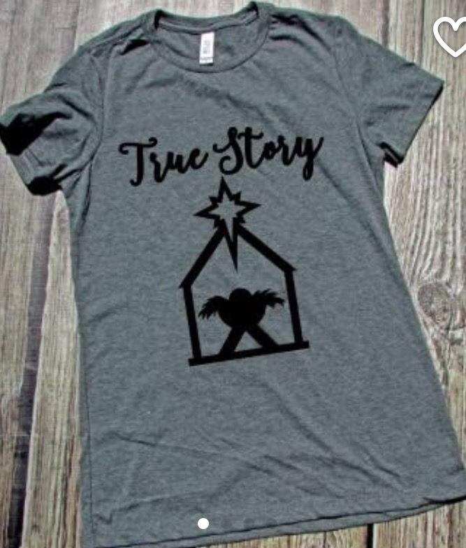True story (manger) | christmas cricut ideas | Pinterest | T-shirt ...