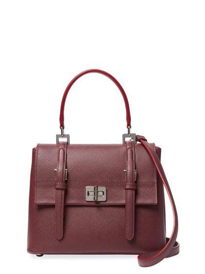 48a56fba8d4d57 ... italy small saffiano leather top handle satchel by prada at gilt 7be99  424da reduced prada black ...