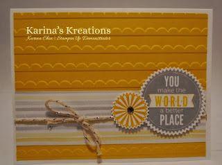 Karina's Kreations: Stampin'Up Starburst Sayings Thank you Card!