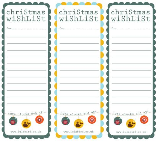 Printable Christmas Wishlist Gift Tags Christmas Pinterest Gift - christmas list template free