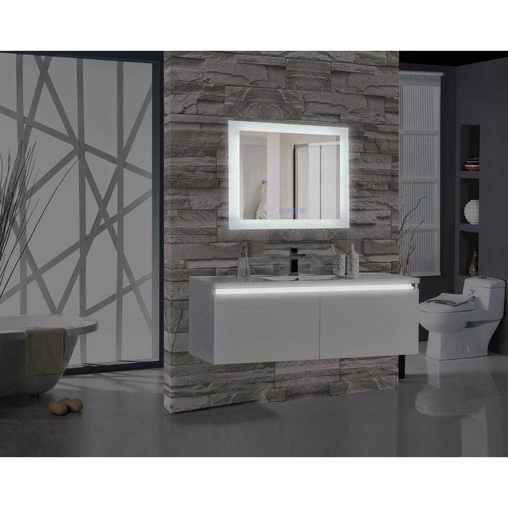 Mtd Vanities Encore Blu103 36 In W X 27 In H Rectangular Led Illuminated Bathroom Mirror With Bluetooth Audio Speakers Frosted White Big Wall Mirrors Black Wall Mirror