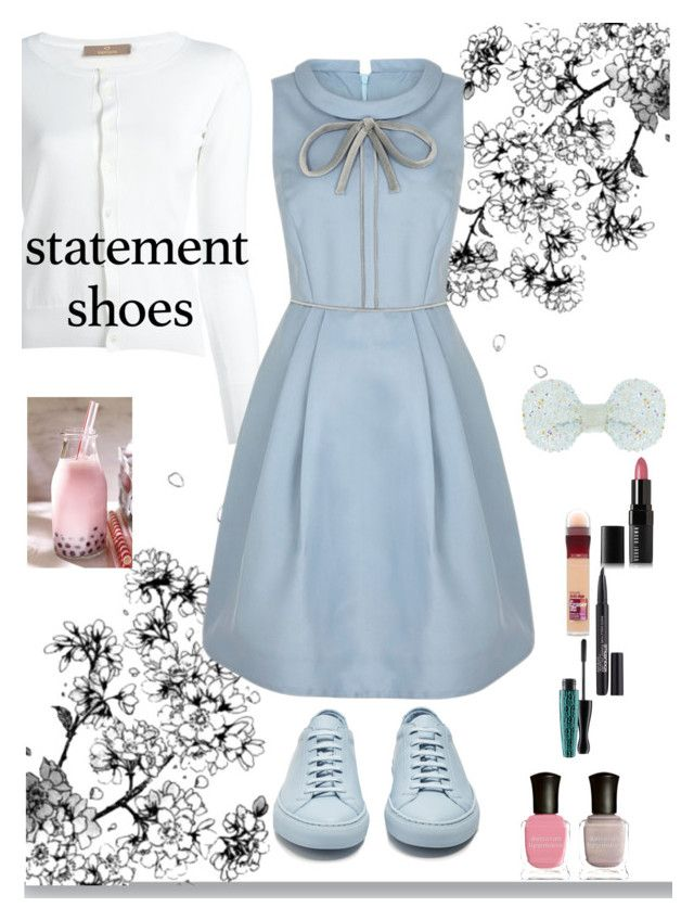 """Statement Sneakers"" by soranamikaze ❤ liked on Polyvore featuring Cruciani, Common Projects, Bobbi Brown Cosmetics, Maybelline, Smashbox, MAC Cosmetics, Monsoon and Deborah Lippmann"