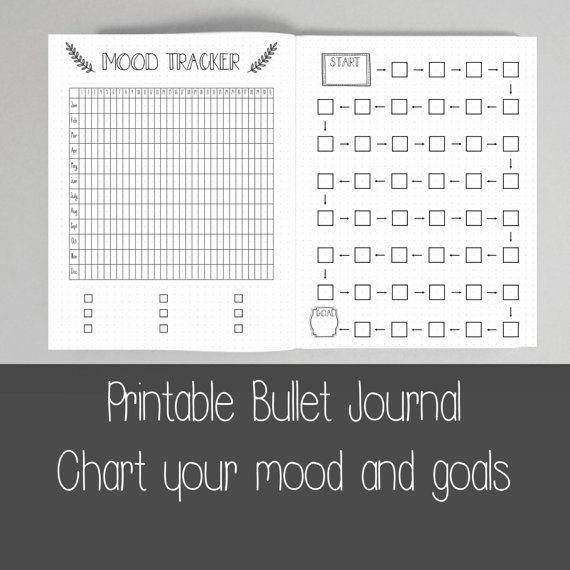 Extra Bullet Journal Pages Goals por ScatteredPapers1 en Etsy