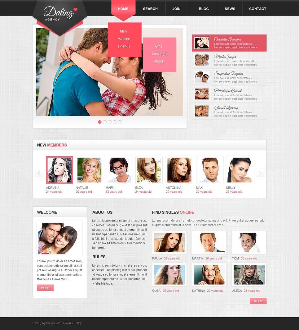 dating website template WordPress