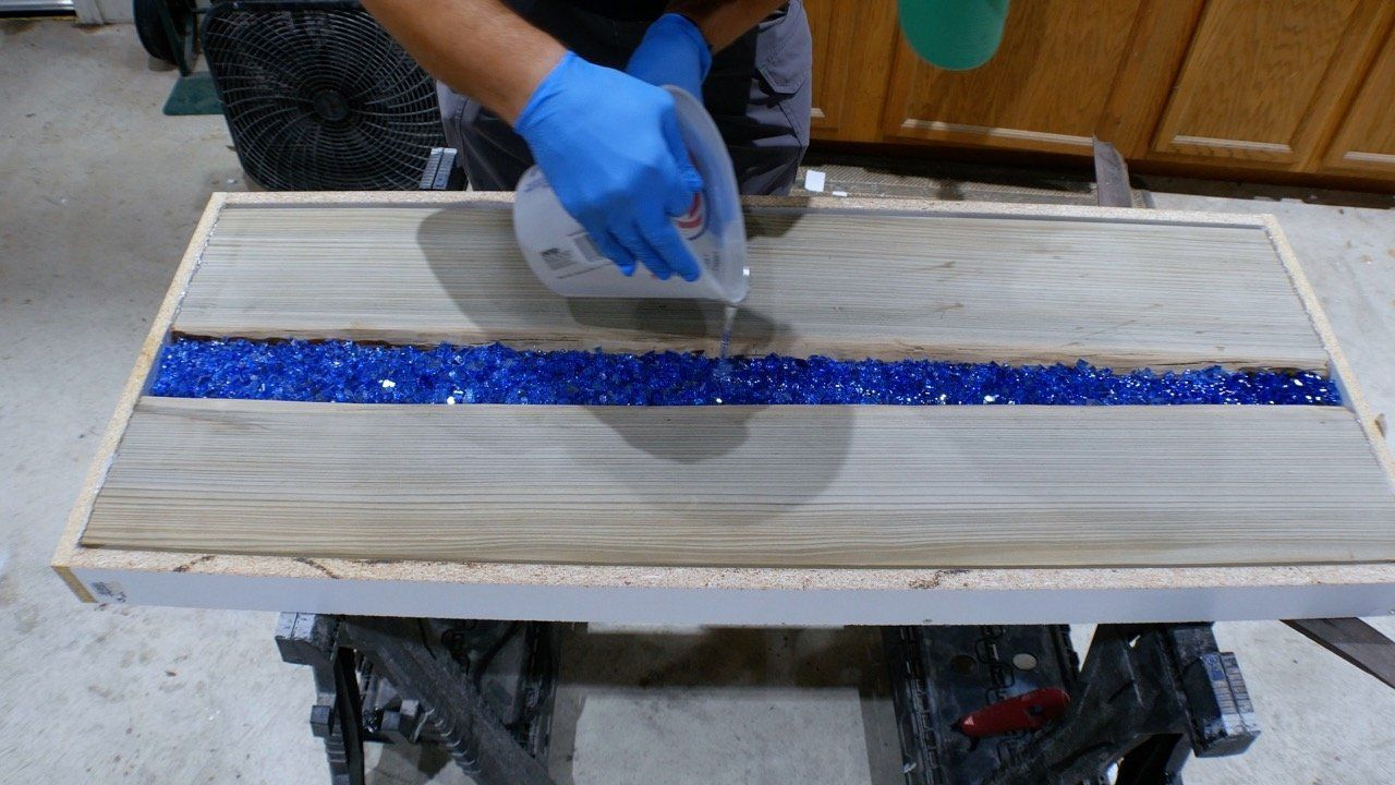 Learn how to make an led epoxy resin river table wood