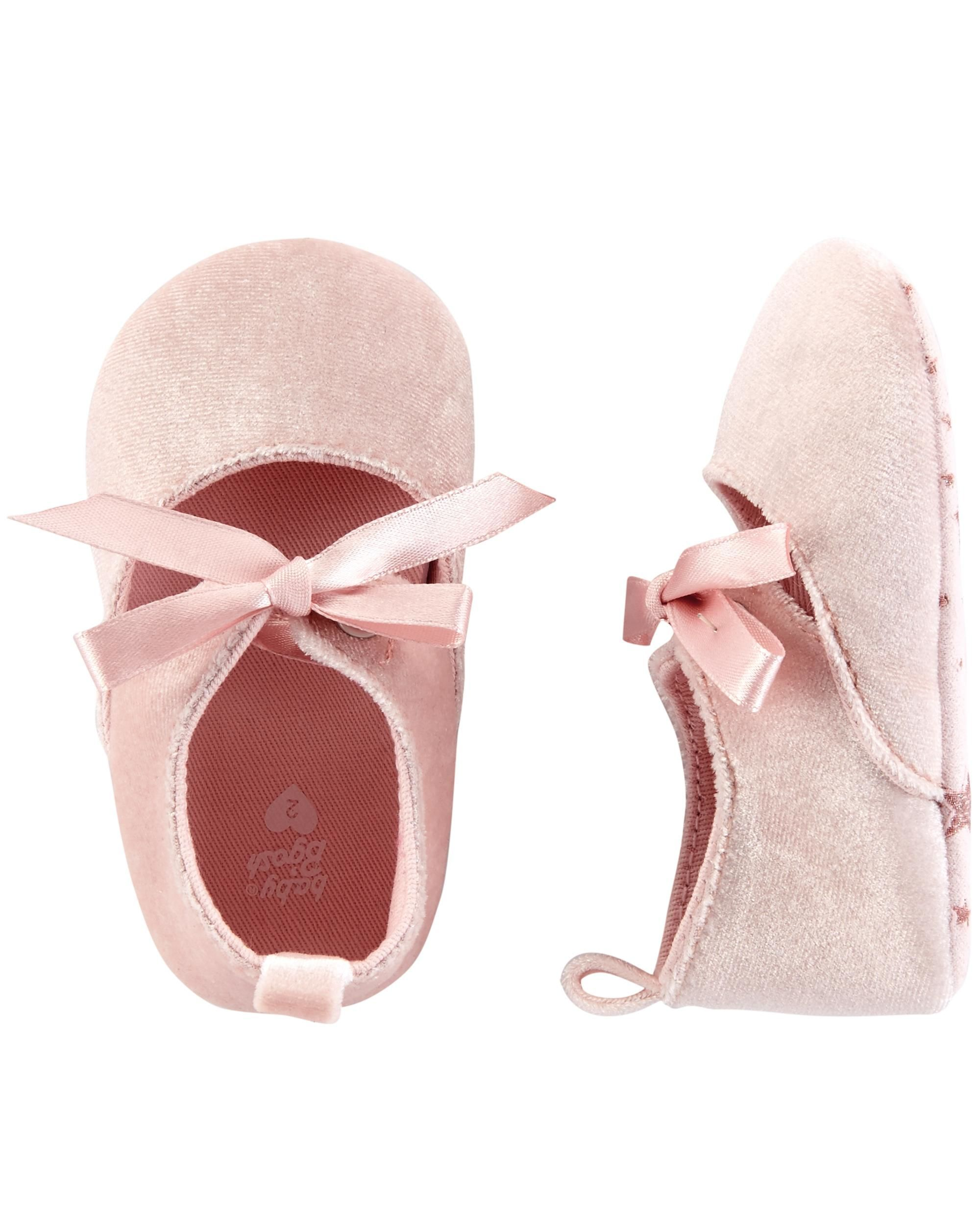 1ec6d496bee2a OshKosh Velvet Ballet Crib Shoes | Brynn | Newborn shoes, Girls ...