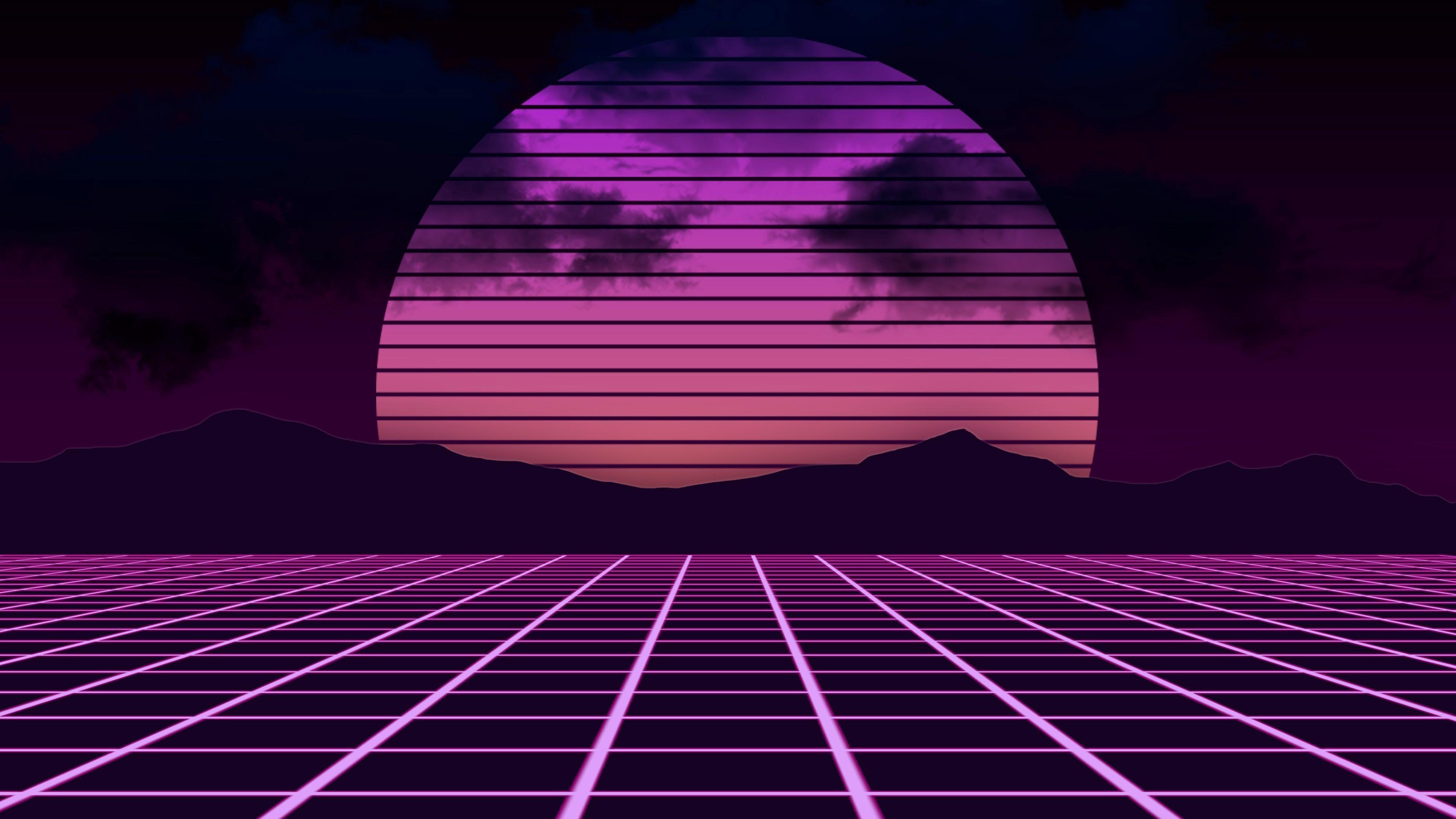 Wallpaper Magenta Vaporwave Digital Art Web Synthwave Symmetry Net Neon Wallpaper Synthwave Vaporwave