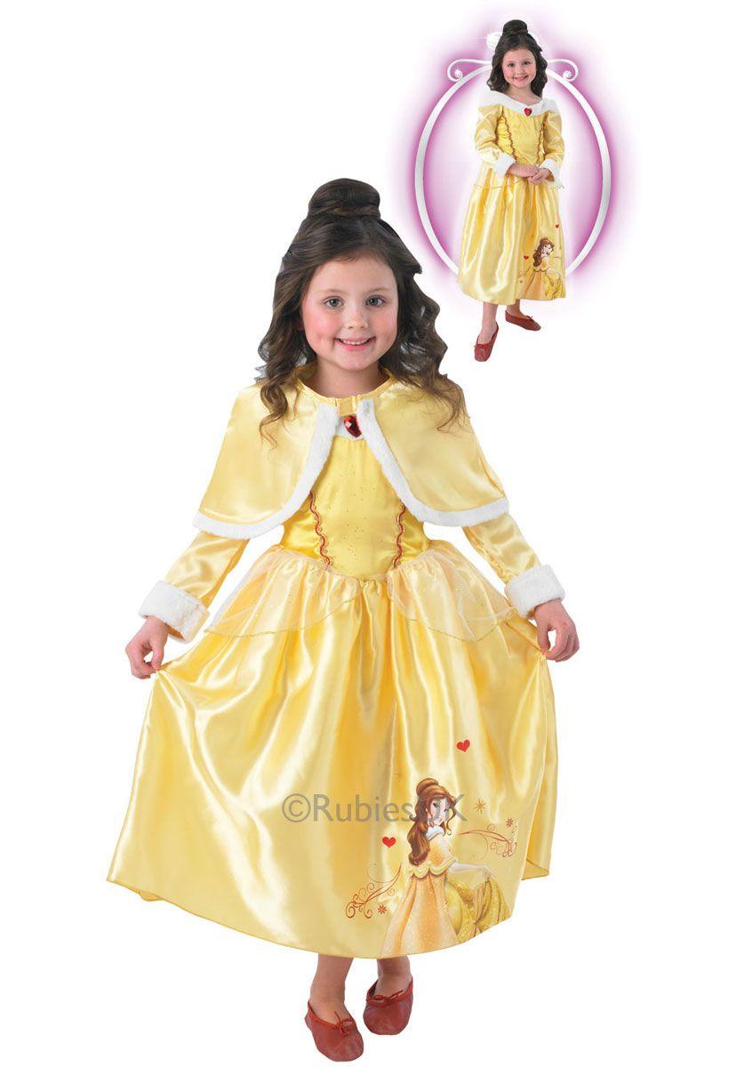 Reversible Sleeping Beauty//Belle Girls Fancy Dress Disney Princess Child Costume