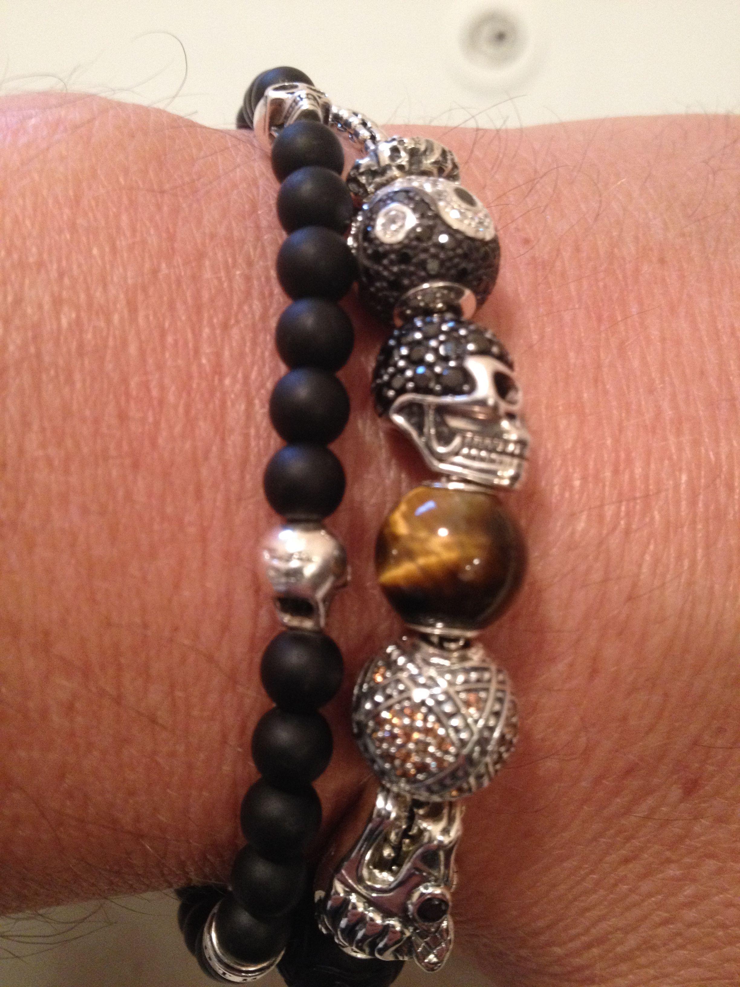 Thomas Sabo  Men's Karma Bead Bracelet  Silver