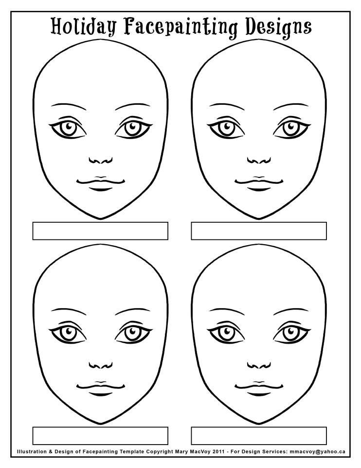 Revered image pertaining to printable face painting chart