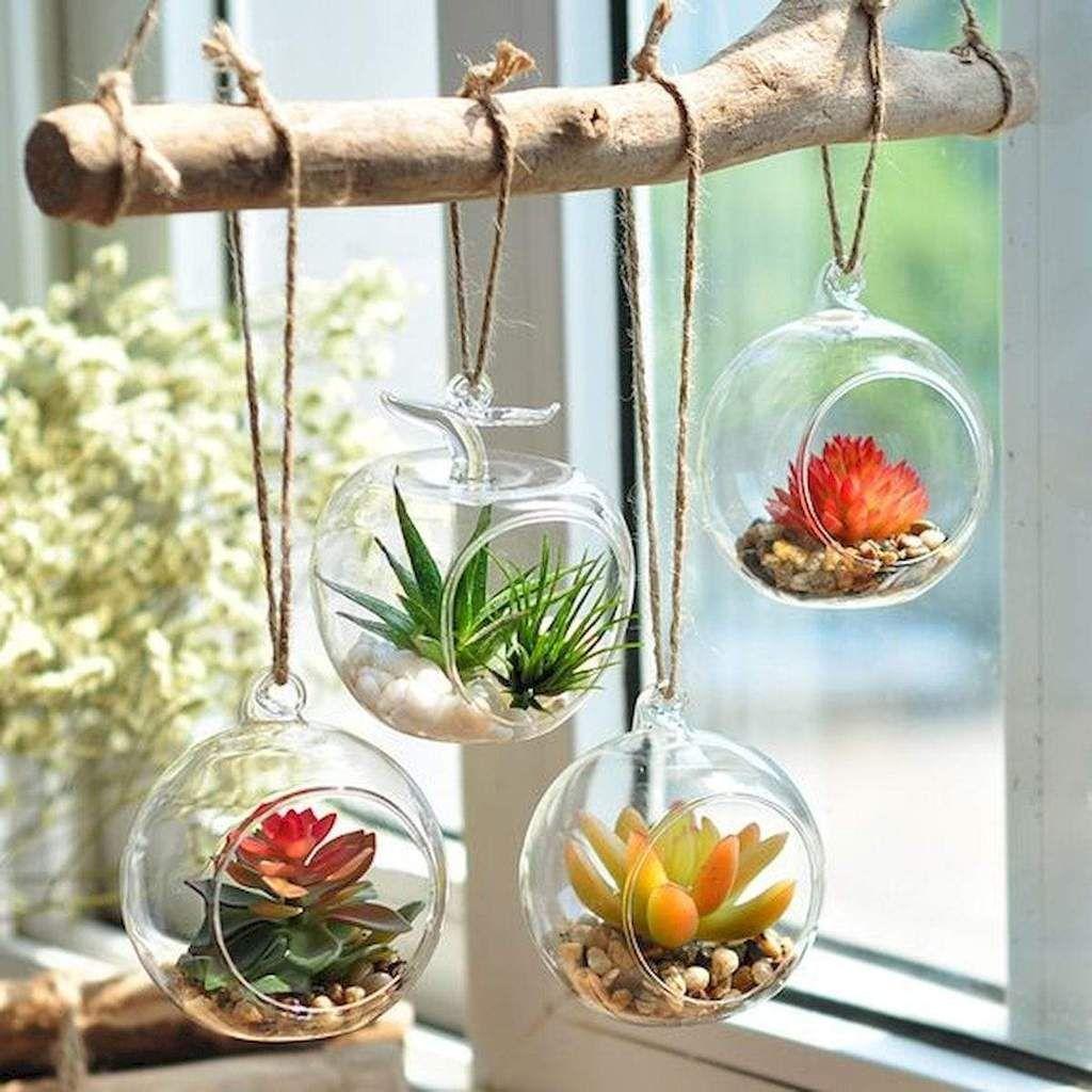 Best Diy Hanging Glass Ball Terrariums Create The Look Farm House Living Room Home Decor Diy Hanging