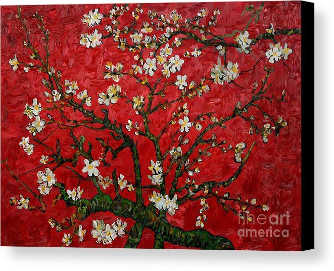 Abstract Daisy With Red Background Canvas Print Available for  @pointsalestore #canvasprint #frameprint #