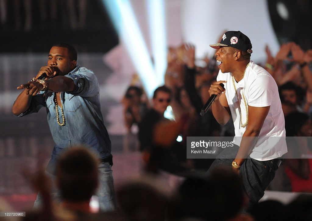 Kanye West And Jay Z Perform On Stage At The The 28th Annual Mtv Kanye West Music Video Jay Z Kanye West Kanye West