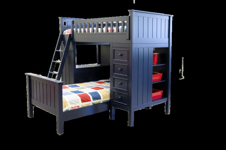 sherwood blue loft with bottom bed Childrens loft beds