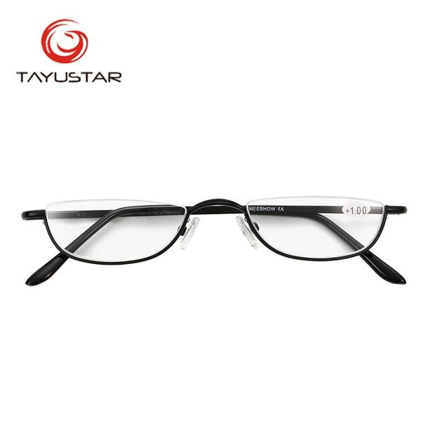 a3cd6d1271 MEESHOW Design Reading Glasses vintage Men Women Eye Glasses Half Rim With  Case Classic Stainless Steel Glasses 2.25 frame Review