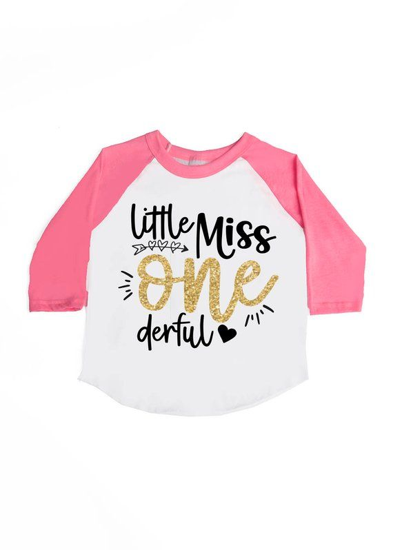 eed33567548eb Little Miss ONE derful Shirt - Girls' Birthday Shirts - 1st Birthday ...