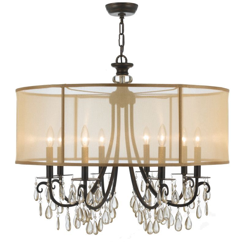 Crystorama lighting group 5628 hampton 8 light 32 wide brass drum crystorama lighting group 5628 hampton 8 light 32 wide brass drum chandelier wi english bronze mozeypictures Choice Image