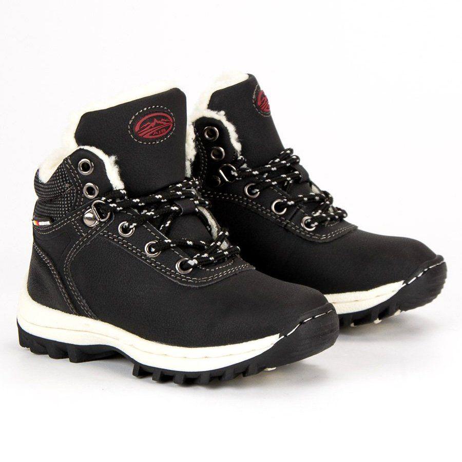 Polbuty I Trzewiki Dzieciece Dla Dzieci Axboxing Ax Boxing Czarne Zimowe Obuwie Na Suwak Hiking Boots Shoes Boots