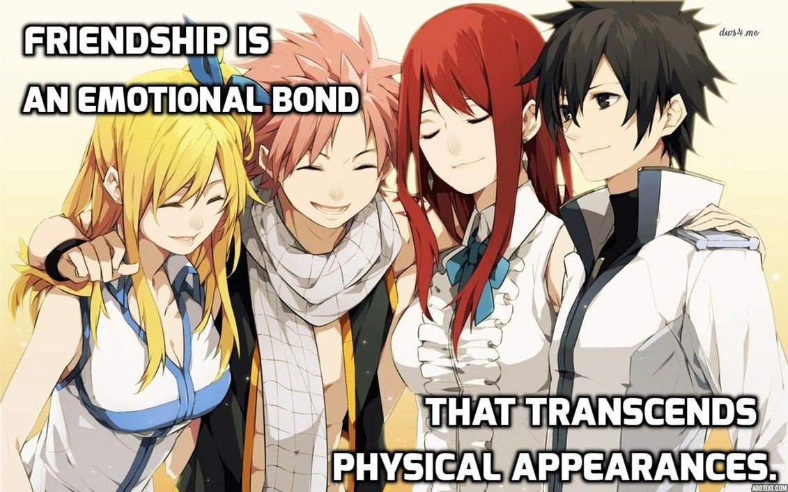 Anime Quotes About Friendship Anime Quote 271Animequotes  Fairy Tail  Pinterest