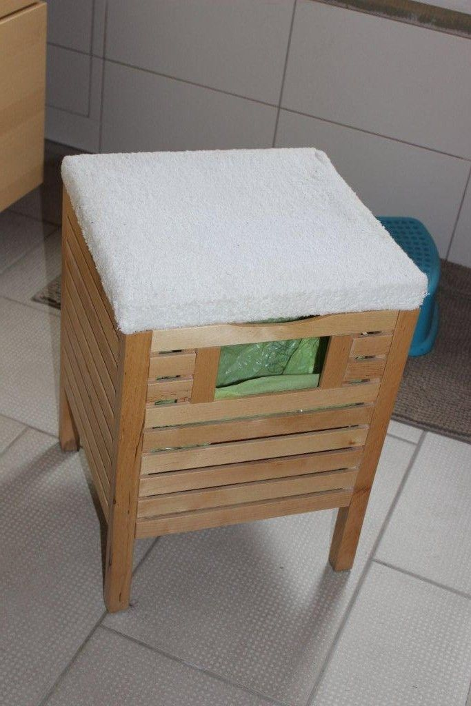 Bathroom Rubbish Bin Stool Hack