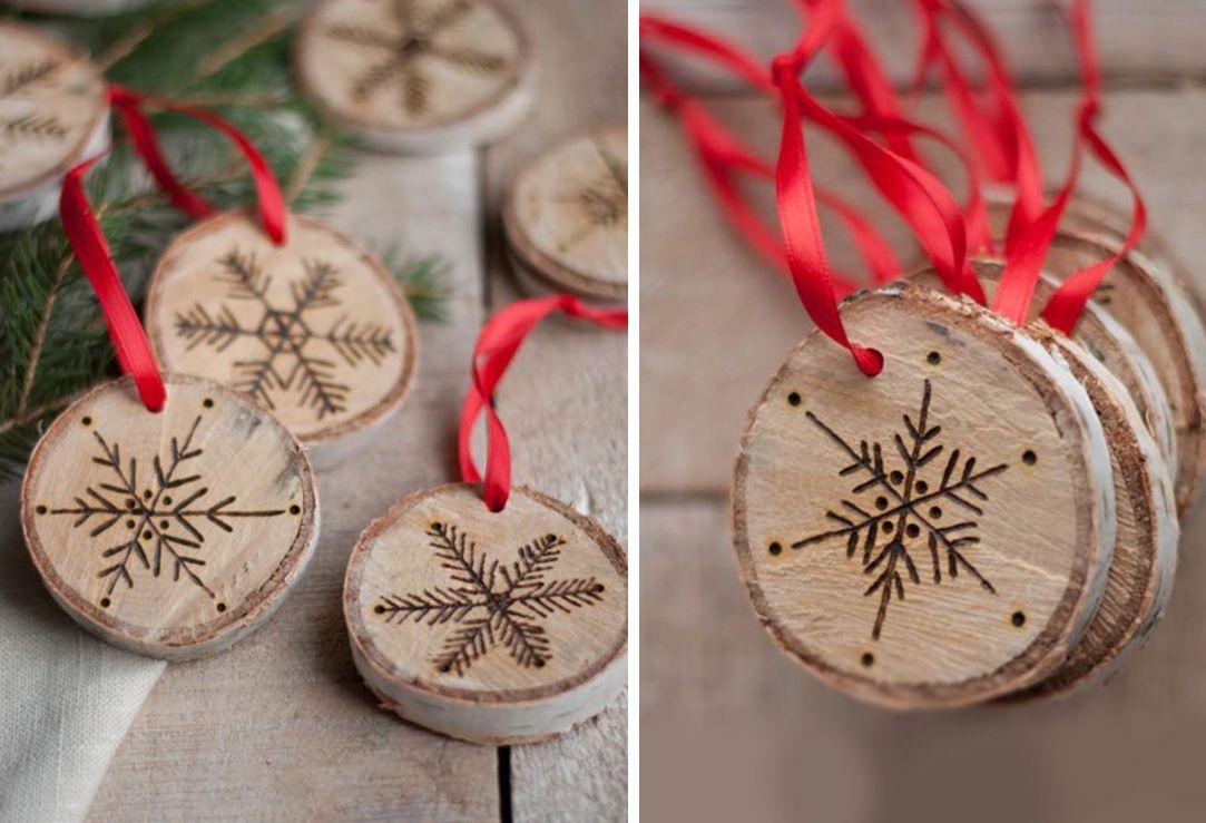 Decorazioni Natalizie In Legno Fai Da Te.Palline Di Natale Fai Da Te Create Da Dischetti Di Legno Diy Christmas Ball Made With Ornamenti Di Natale Fai Da Te Artigianato Festivita Progetti Di Natale