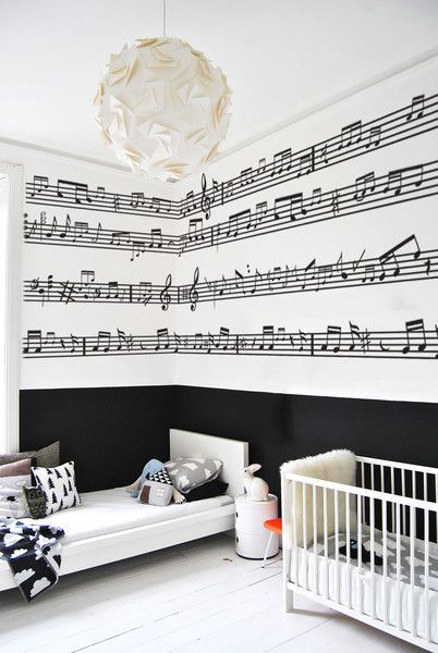 Music lines | Music bedroom, Music decor, Bedroom themes