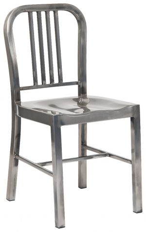 Indoor Metal Chair in Clear Finish
