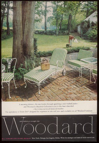 1962 Woodard Mayfield wrought iron furniture print ad | Ads, Wrought ...