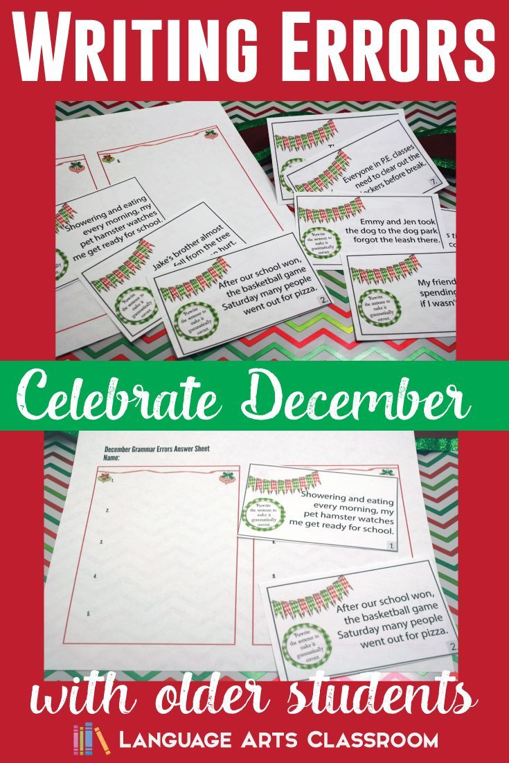 Practice Correcting Common Writing Errors With A December Theme Perfect For Finals Practice High School English Lesson Plans Holiday Lessons Grammar Errors [ 1102 x 735 Pixel ]