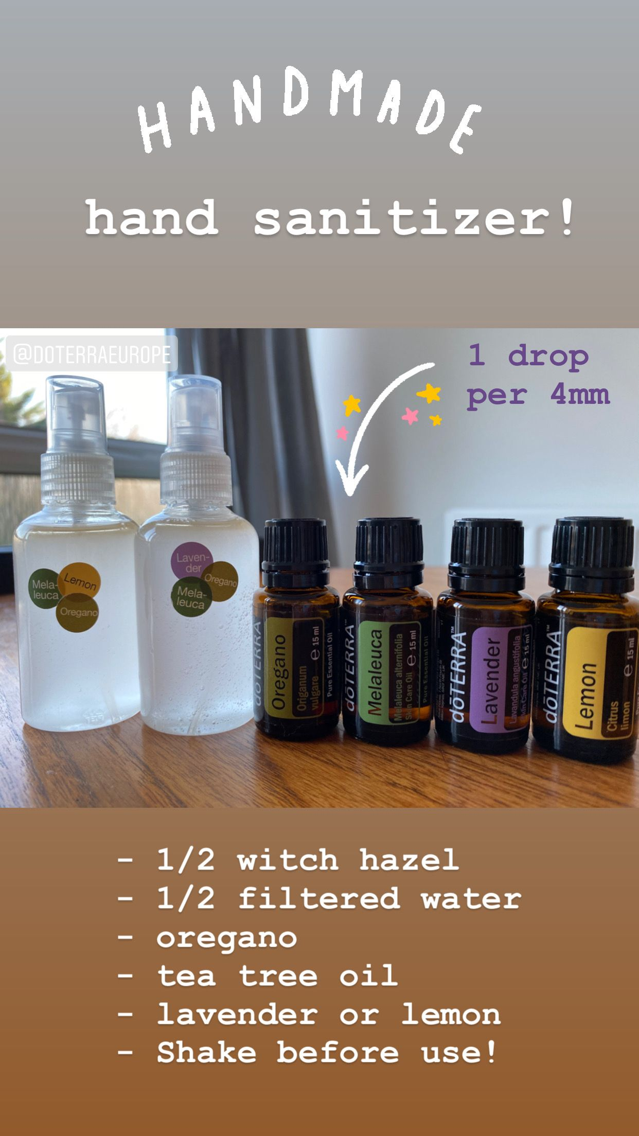 Get A Small Travel Size Spray Bottle Fill 1 2 With Witch Hazel 1
