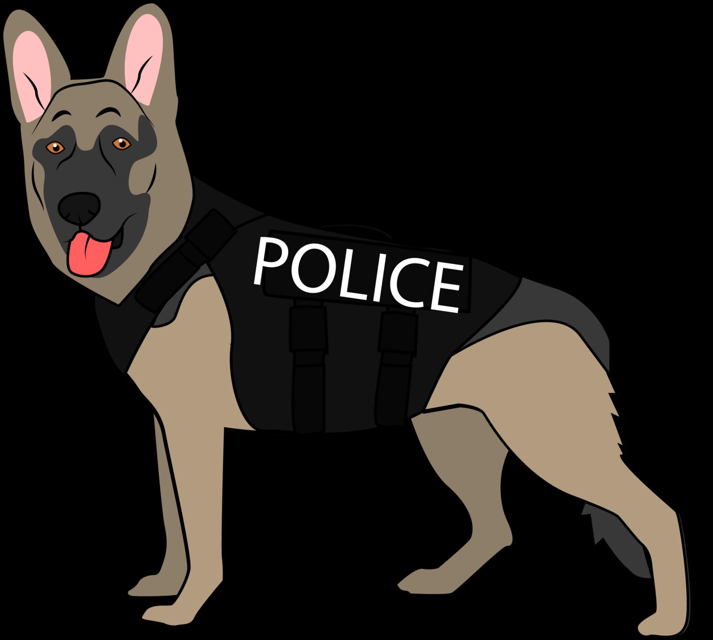 K9 Police Dog Old German Shepherd Dog Clipart Full Size ...