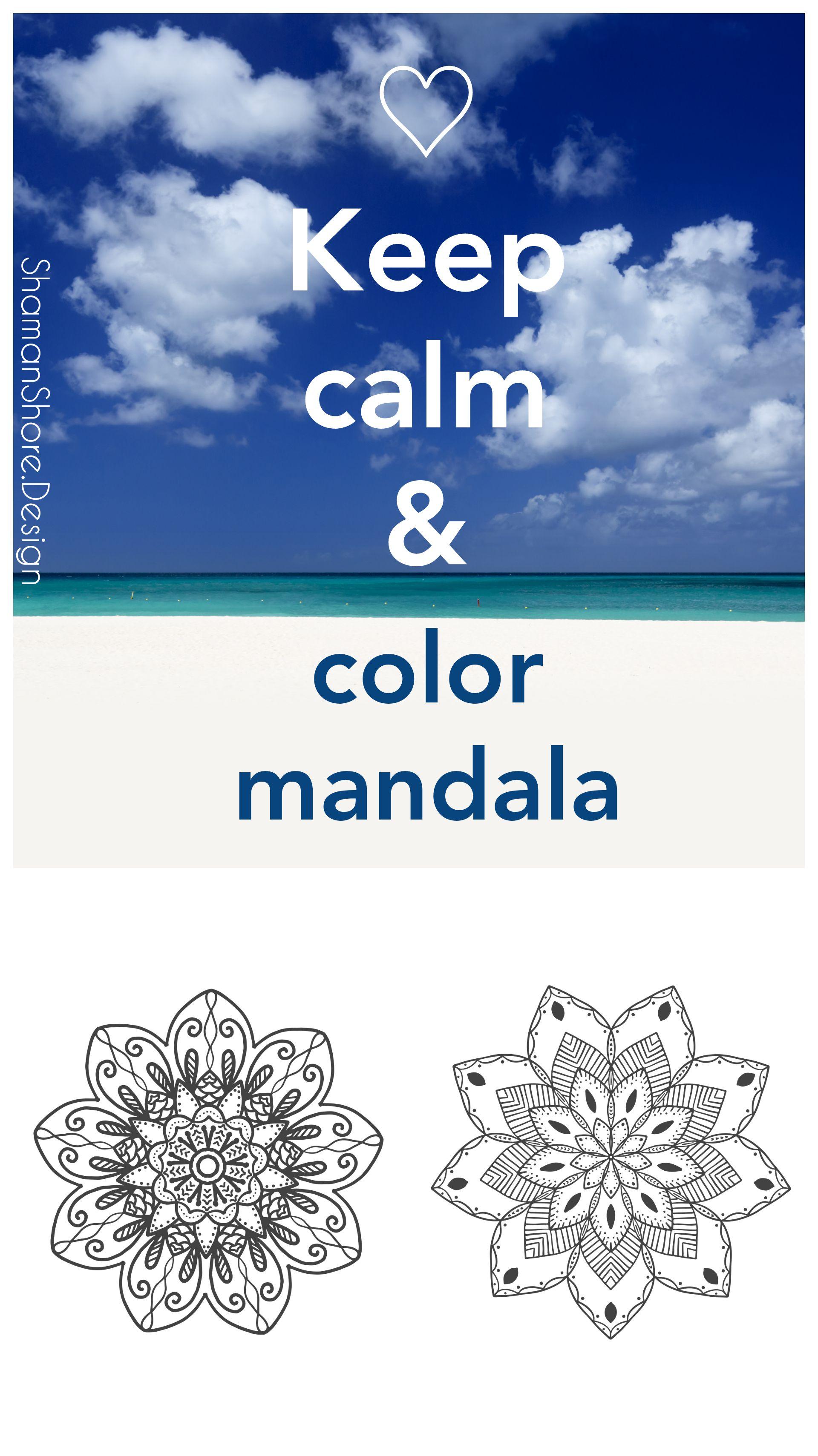 Digital Adult Coloring Book Pdf, 20 Whimsical Mandala Adult Coloring ...