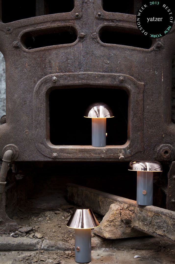 Rivet table lamp : David Irwin for Juniper Design