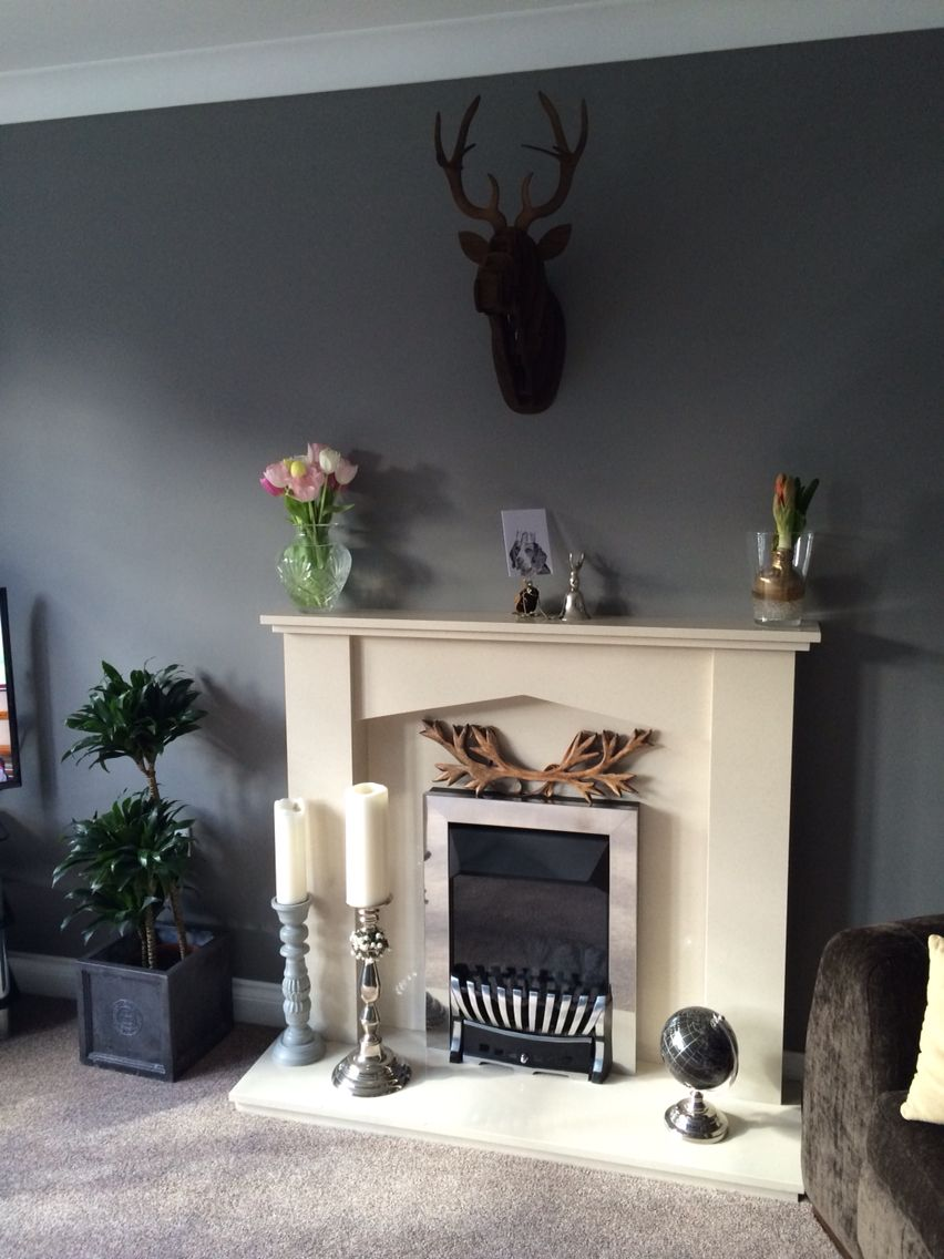 My new living room in moles breath farrow and ball paint - Farrow and ball decoration ...