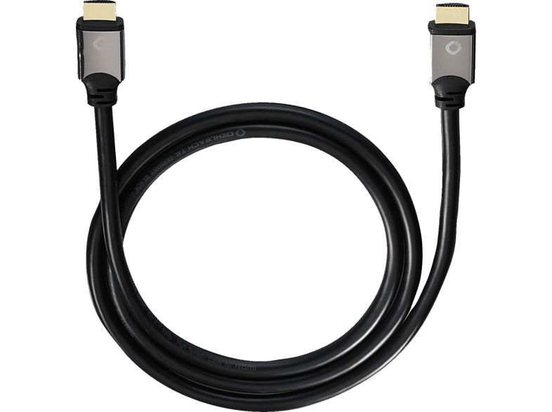 Oehlbach 92454 Black Magic Hdmi 2,2 M Ethernet Hdmi Kabel, Schwarz ,schwarz
