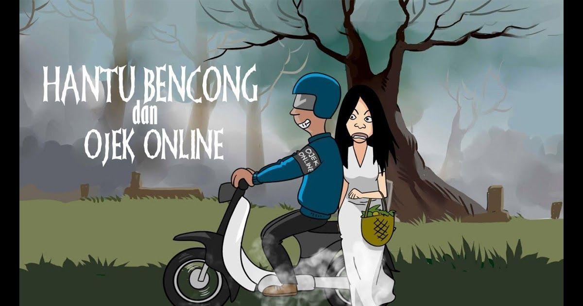 30 Gambar Kartun Boncengan Sepeda Kartun Horor Hantu Bencong Dan
