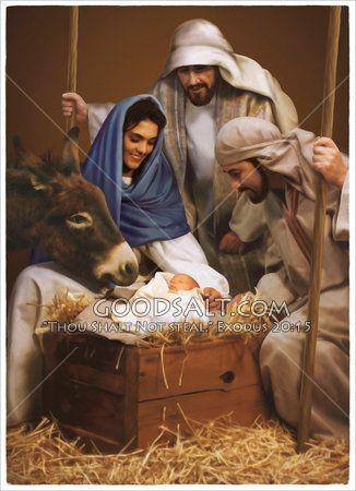 Baby Jesus And Visit By Shepherds Christmas Nativity Scene Christian Art Nativity
