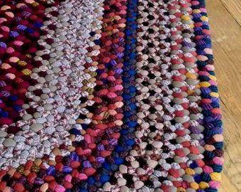 Tappeto in lana intrecciata ovale 2 x 3 nel 2019 Tappeti