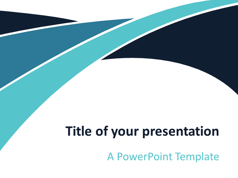 free blue wave powerpoint template | abstract powerpoint templates, Powerpoint templates