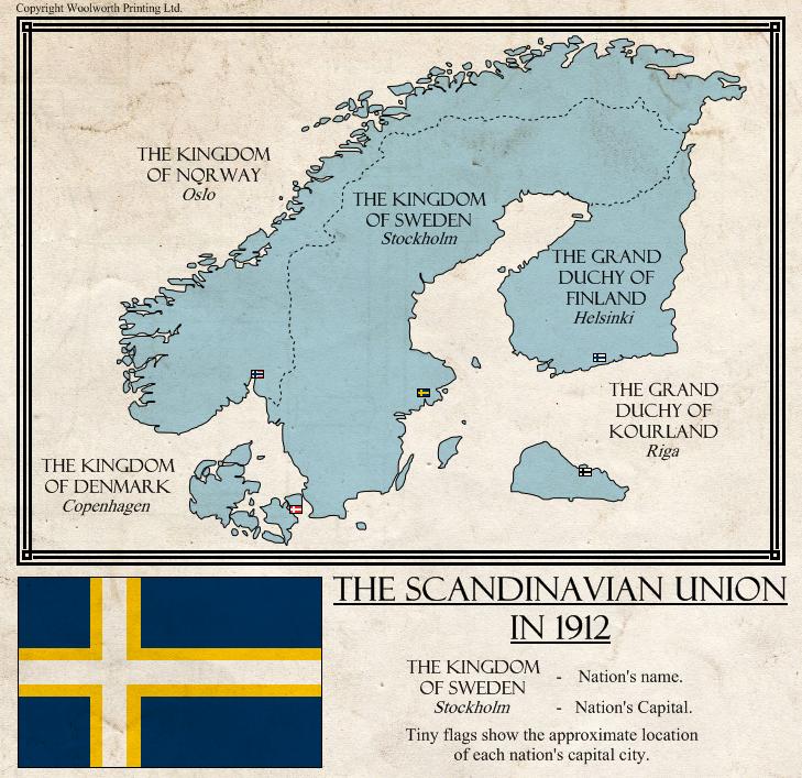 Tl 181 The Scandinavian Union By Kurarun Imaginary Maps Alternate History Historical Maps