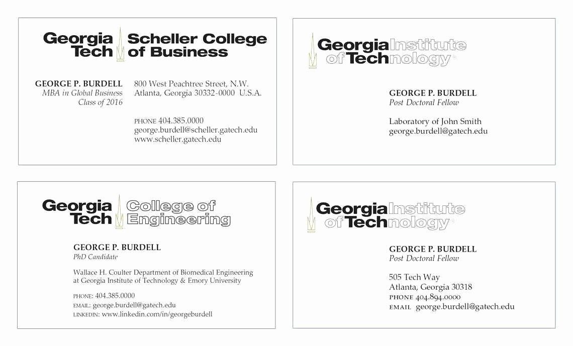 Graduate Student Business Cards Template Elegant Virginia Tech Graduate School Luxur Free Business Card Templates Student Business Cards Business Card Template