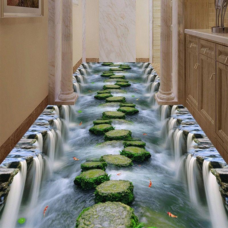 Benutzerdefinierte 3d Bodenbelag Tapete Pvc Tragen Rutschfeste Wasserdicht Verdickt Selbstklebende Wandma 3d Bodenbelag Bodengestaltung Wasserfester Bodenbelag