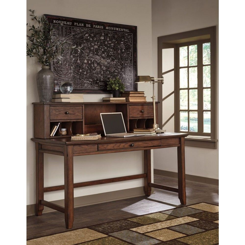 Ashley Furniture Woodboro Home Office Desk Hutch In Brown The